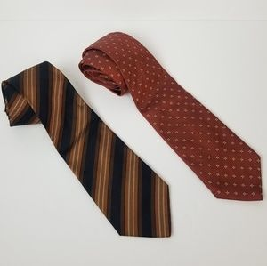 Banana republic pair of silk fall colored ties